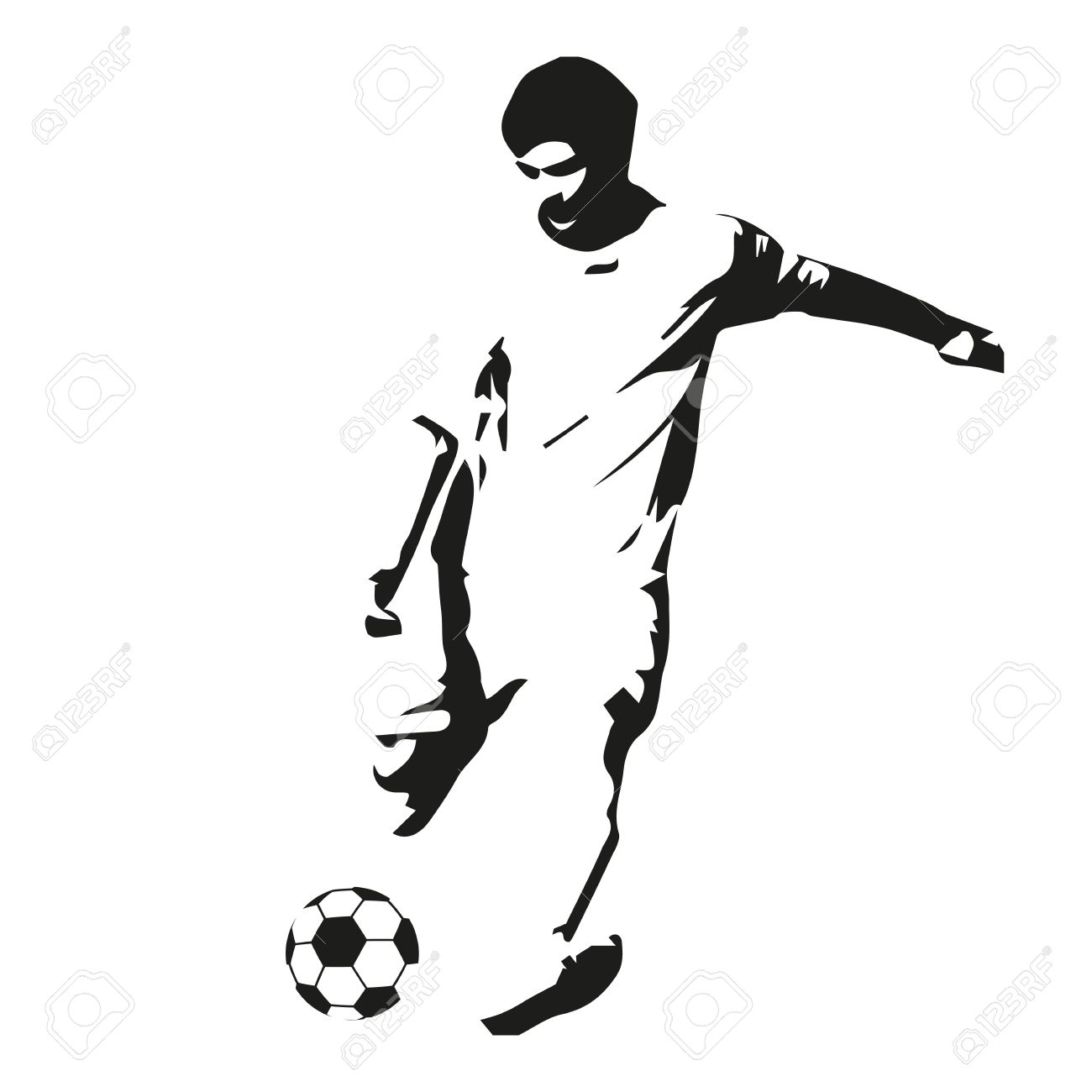 soccer player vector illustration footballer isolated abstract rh 123rf com football player vector image football player victor cruz
