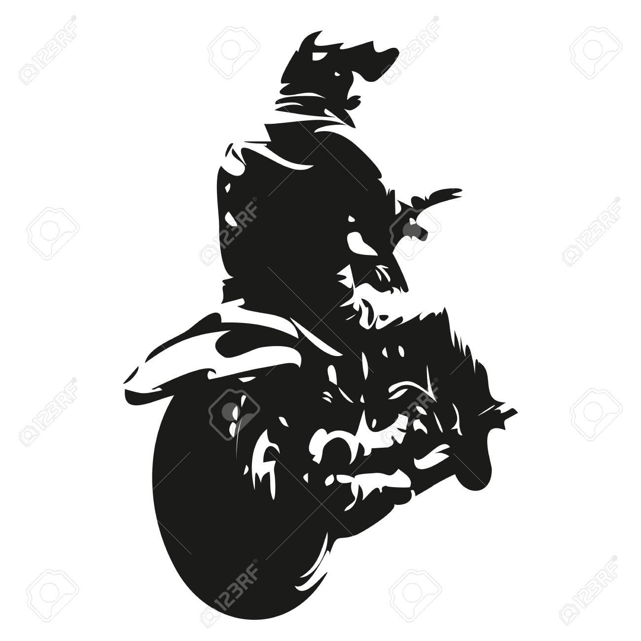 Chopper Motorbike, Motorcycle Rider Abstract Vector Illustration Stock  Vector   55397354