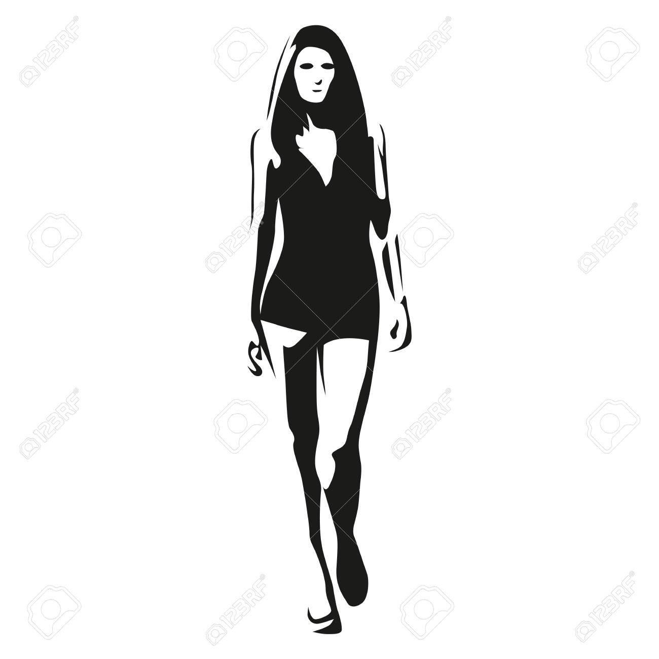 Tall Girl Clipart