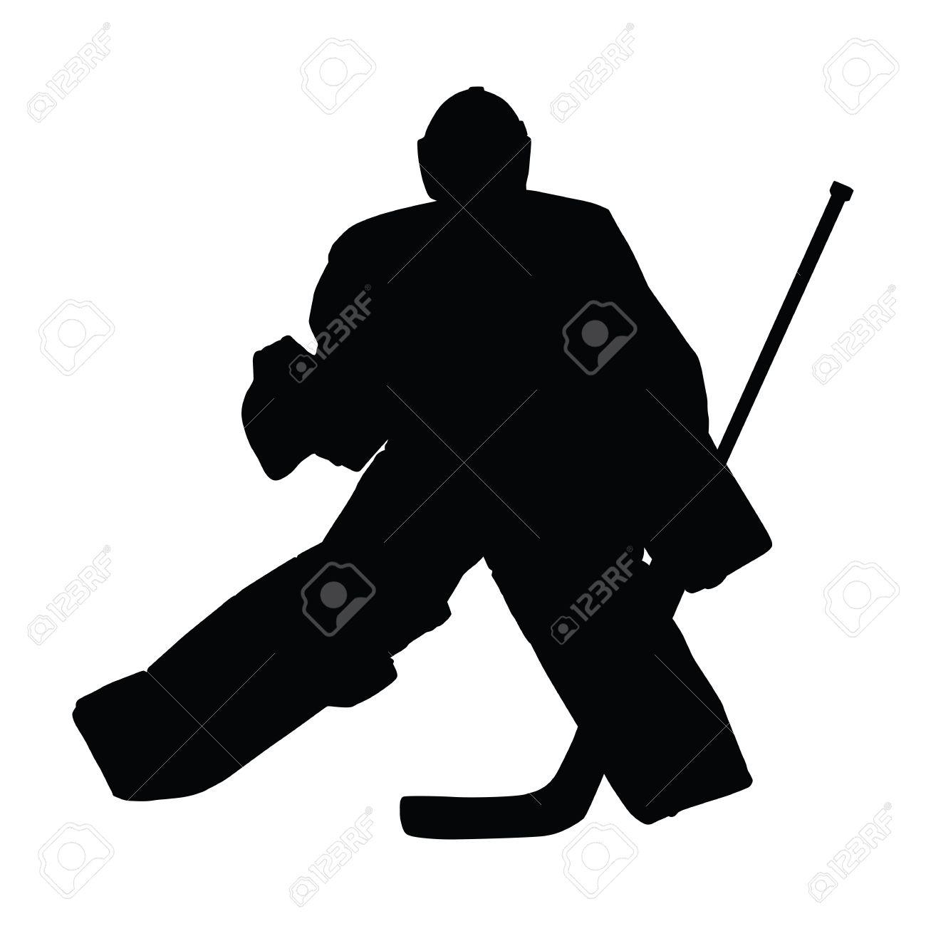 Goalie In Ice Hockey Moves Across Ice In Hockey Goal Hockey