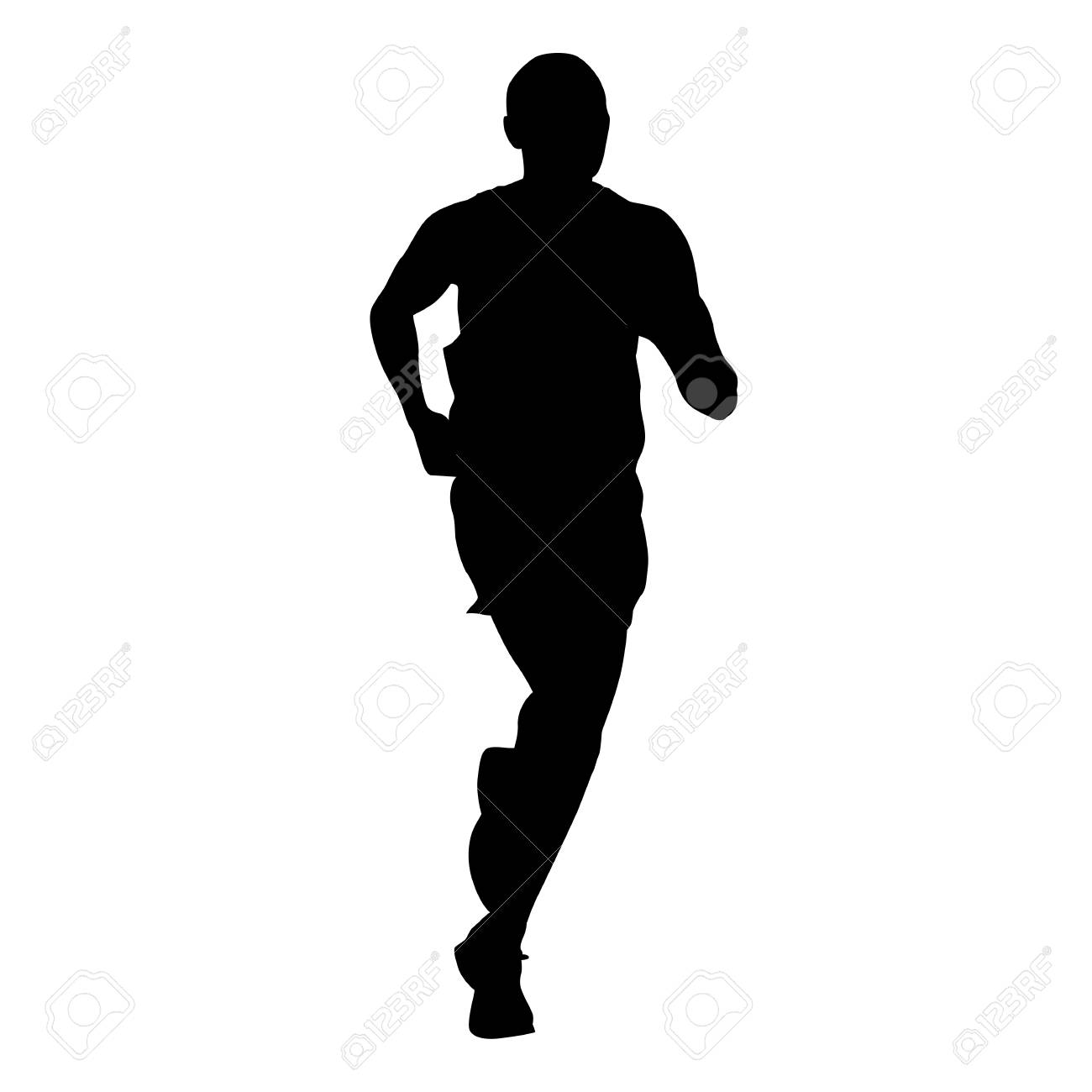 running man, athlete vector silhouette royalty free cliparts, vectors, and  stock illustration. image 69467712.  123rf