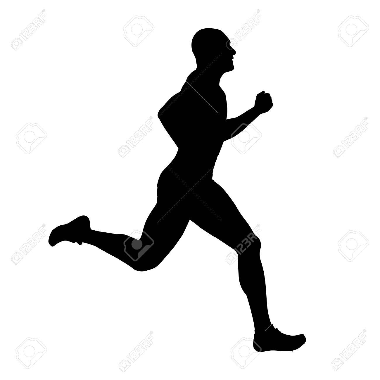 runner vector silhouette side view sprinting athlete royalty free cliparts vectors and stock illustration image 76445351 runner vector silhouette side view sprinting athlete
