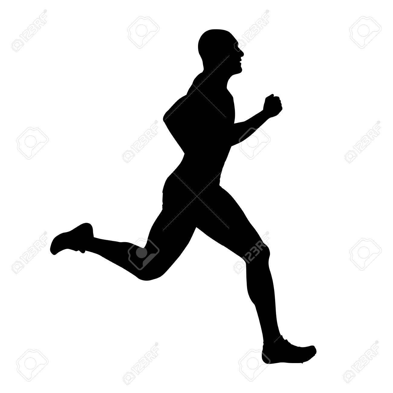 runner vector silhouette side view sprinting athlete royalty free rh 123rf com runner vector art runner vector silhouette