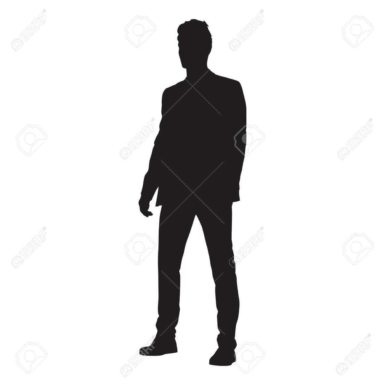 Business Man Silhouette Standing Royalty Free Cliparts Vectors And Stock Illustration Image 96757115 High quality man silhouette gifts and merchandise. business man silhouette standing