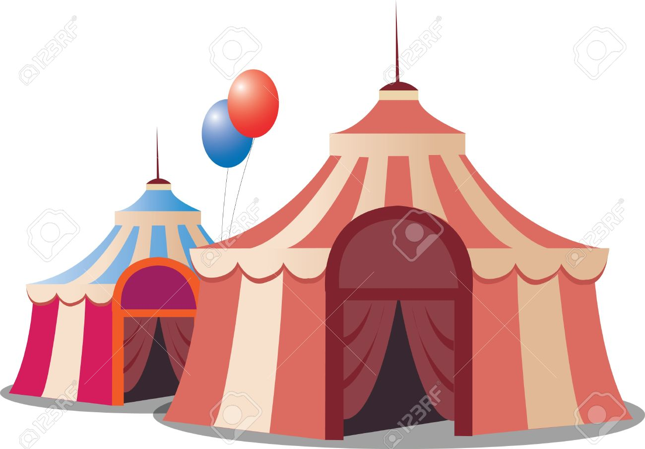stylized circus tent, isolated on white background - 10315880