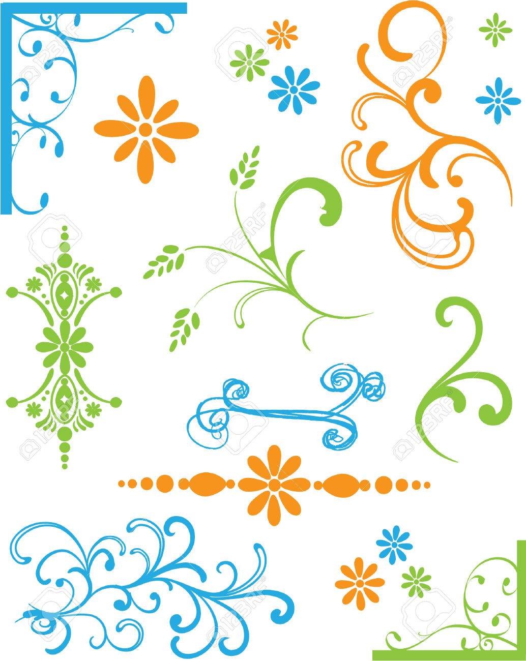 Set of Colored Ornaments Stock Vector - 4712779