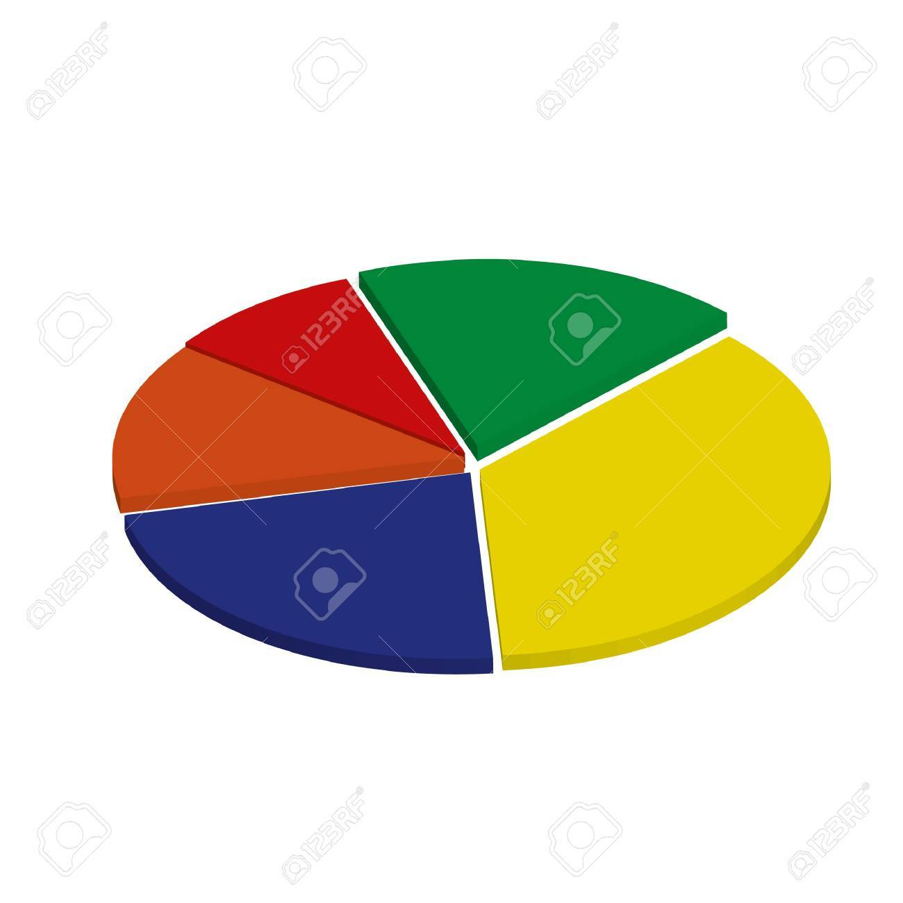 5 color 3d pie chart stock photo picture and royalty free image 5 color 3d pie chart stock photo 18853858 geenschuldenfo Image collections