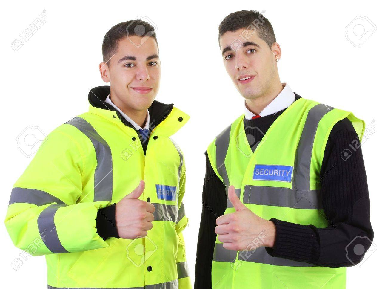 Two security guards with a thumbs up Stock Photo - 11324100