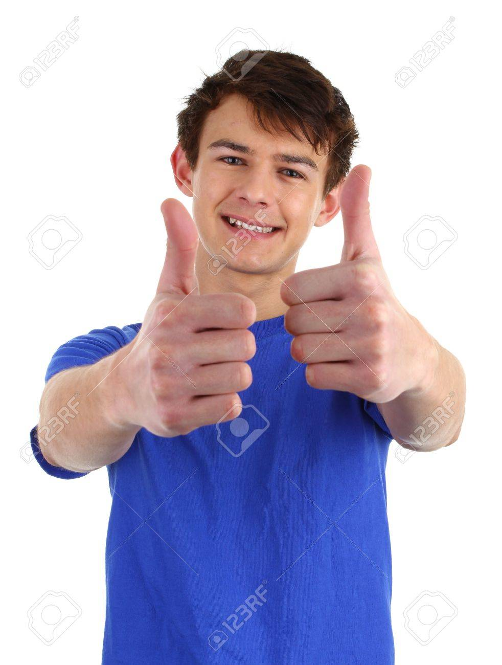 A happy guy with a thumbs up sign Stock Photo - 11773028