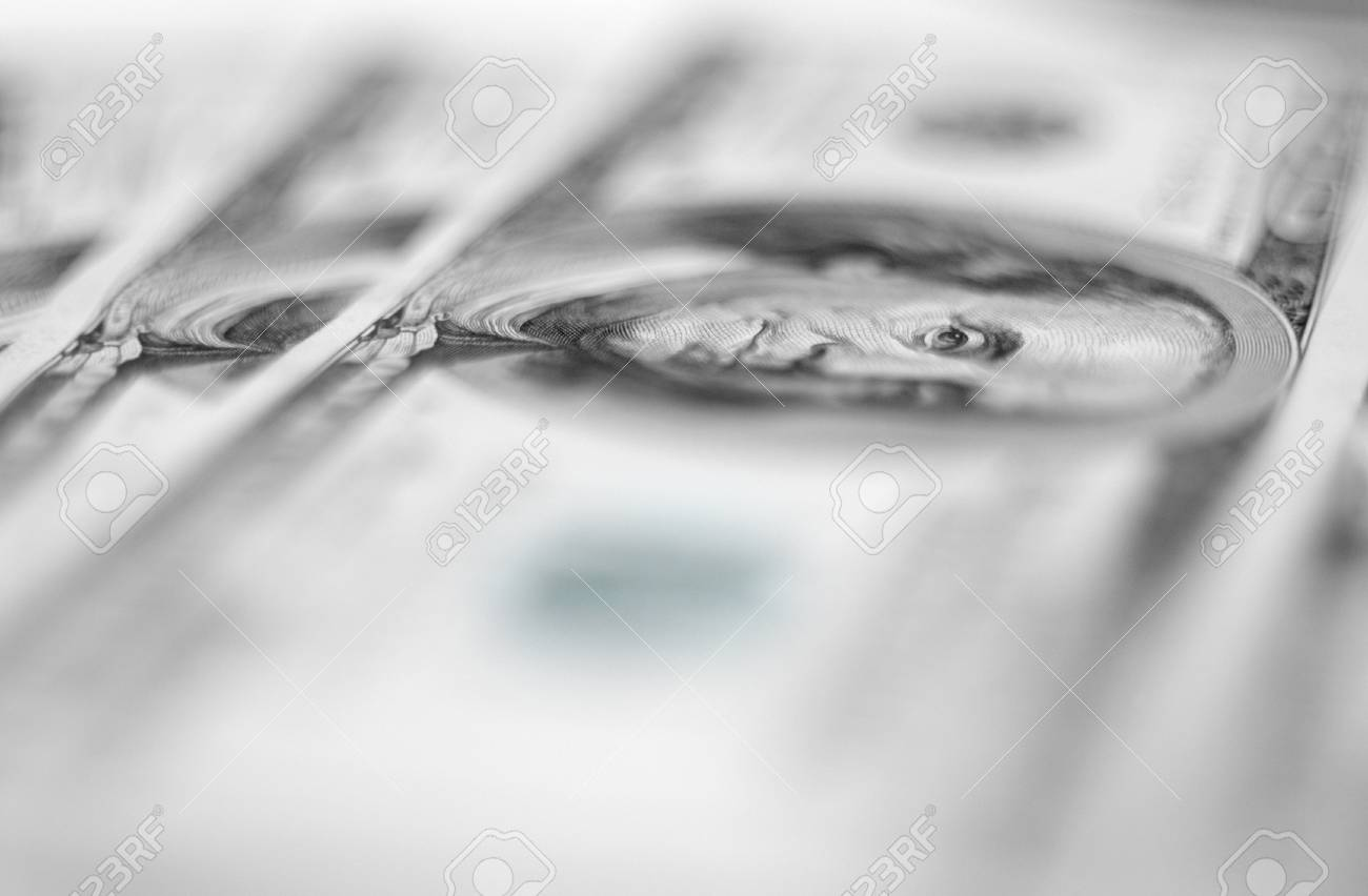 $100 banknotes background with extremally shallow depth of field. Stock Photo - 13197272