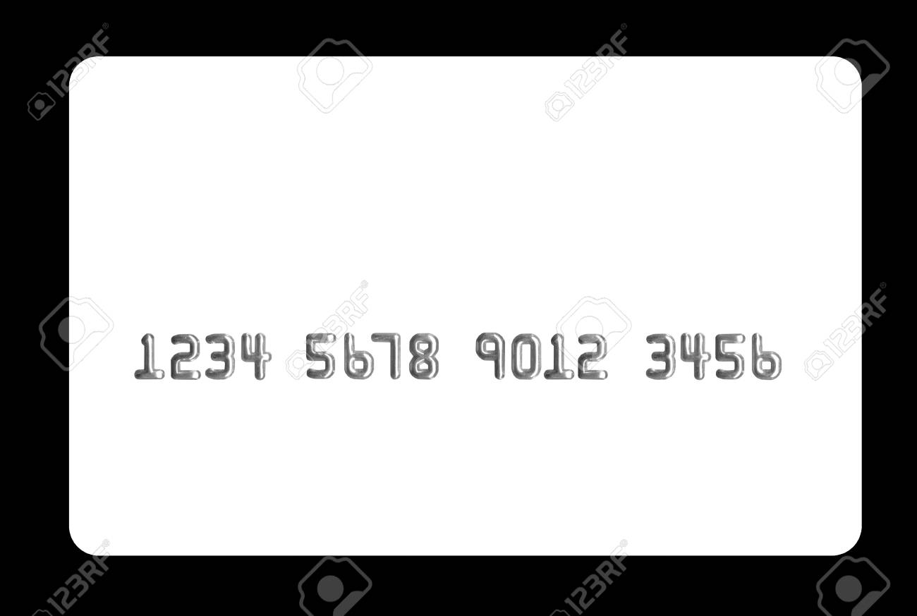 White Bank Card On Black Background Useful In Your Projects Stock