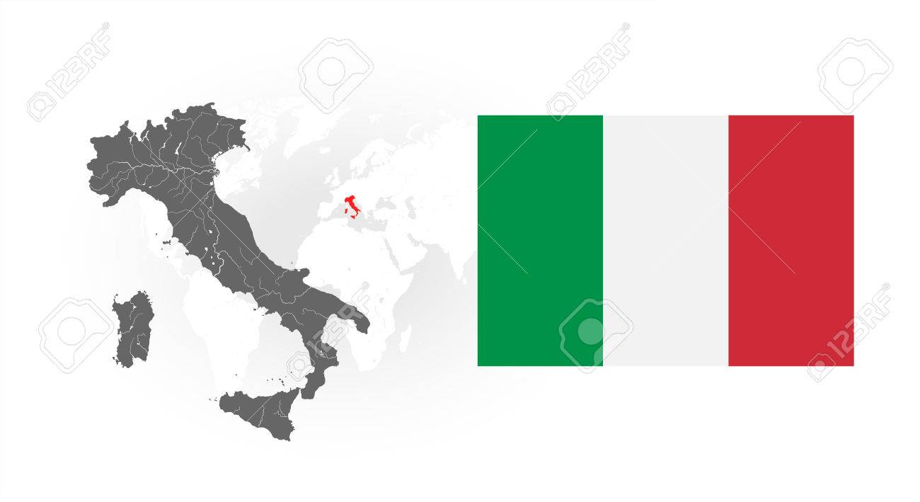 Map Of Italy With Lakes And Rivers Italy S Location On The World