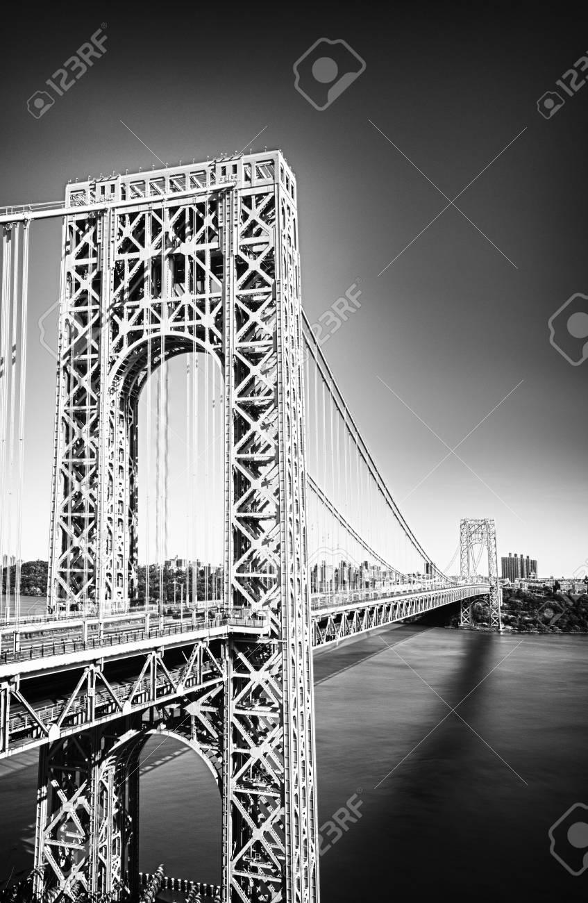 George washington bridge new york city black and white hdr