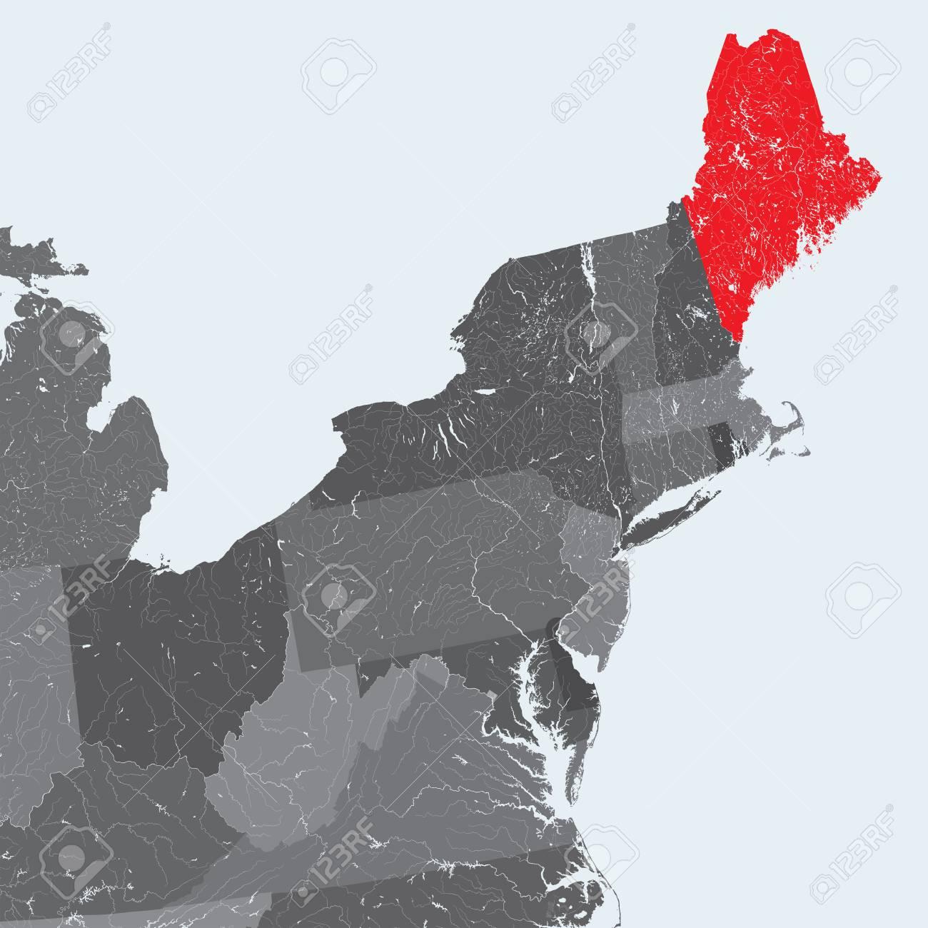 U.S. states - Northeastern United States - Maine - hand made..