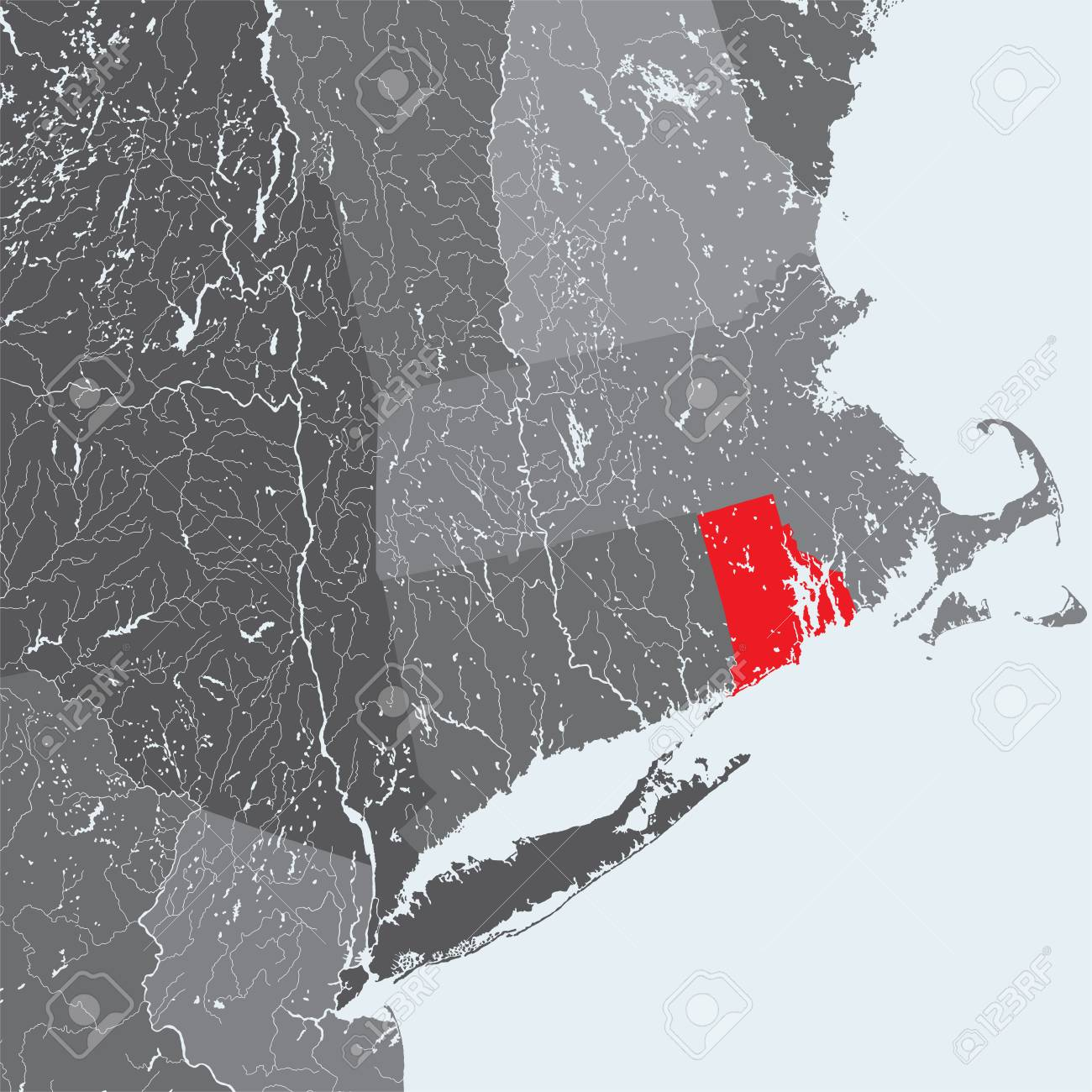 U.S. States - Northeastern United States - Rhode Island - Hand Made ...