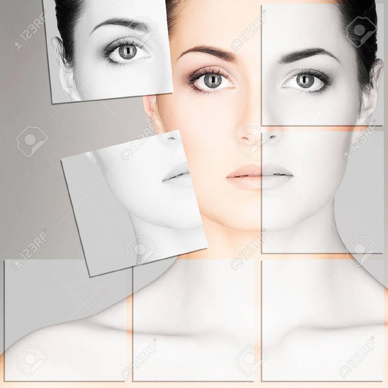 Aesthetic facial mosaic surgery