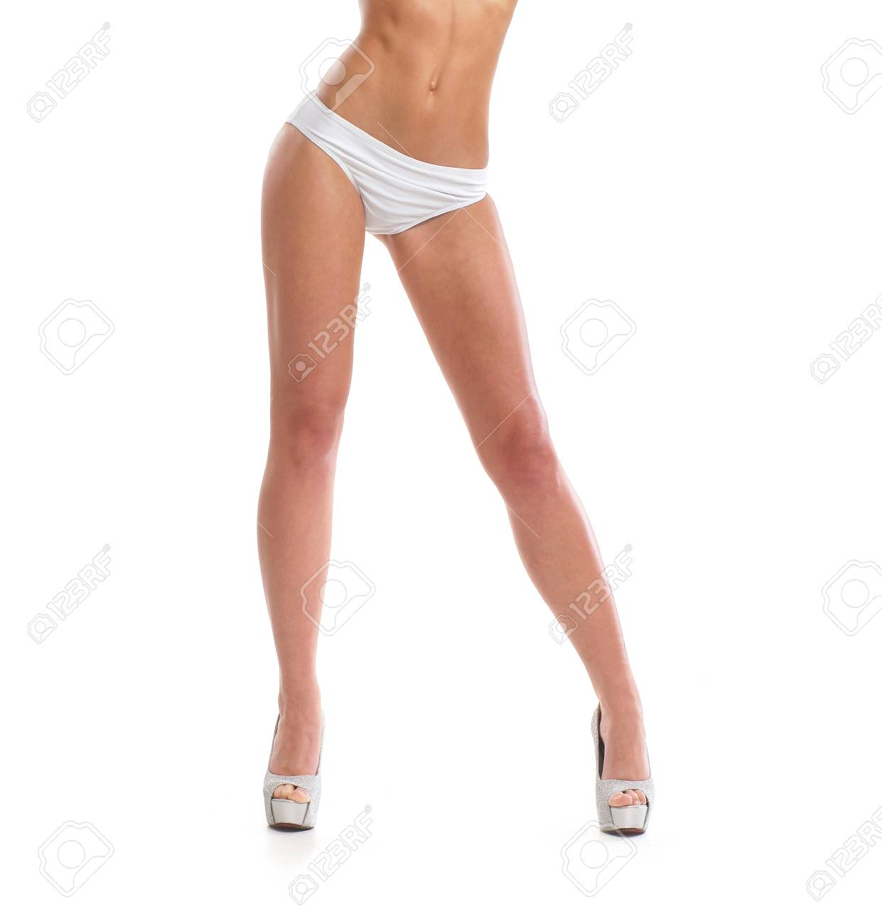 Sexy Legs Isolated On White Stock Photo Picture And Royalty Free