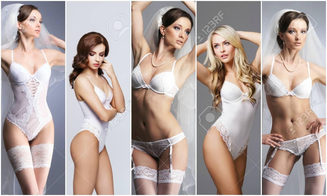 Bridal Underwear Collection. Sexy Woman In Underwear. Bride In ...