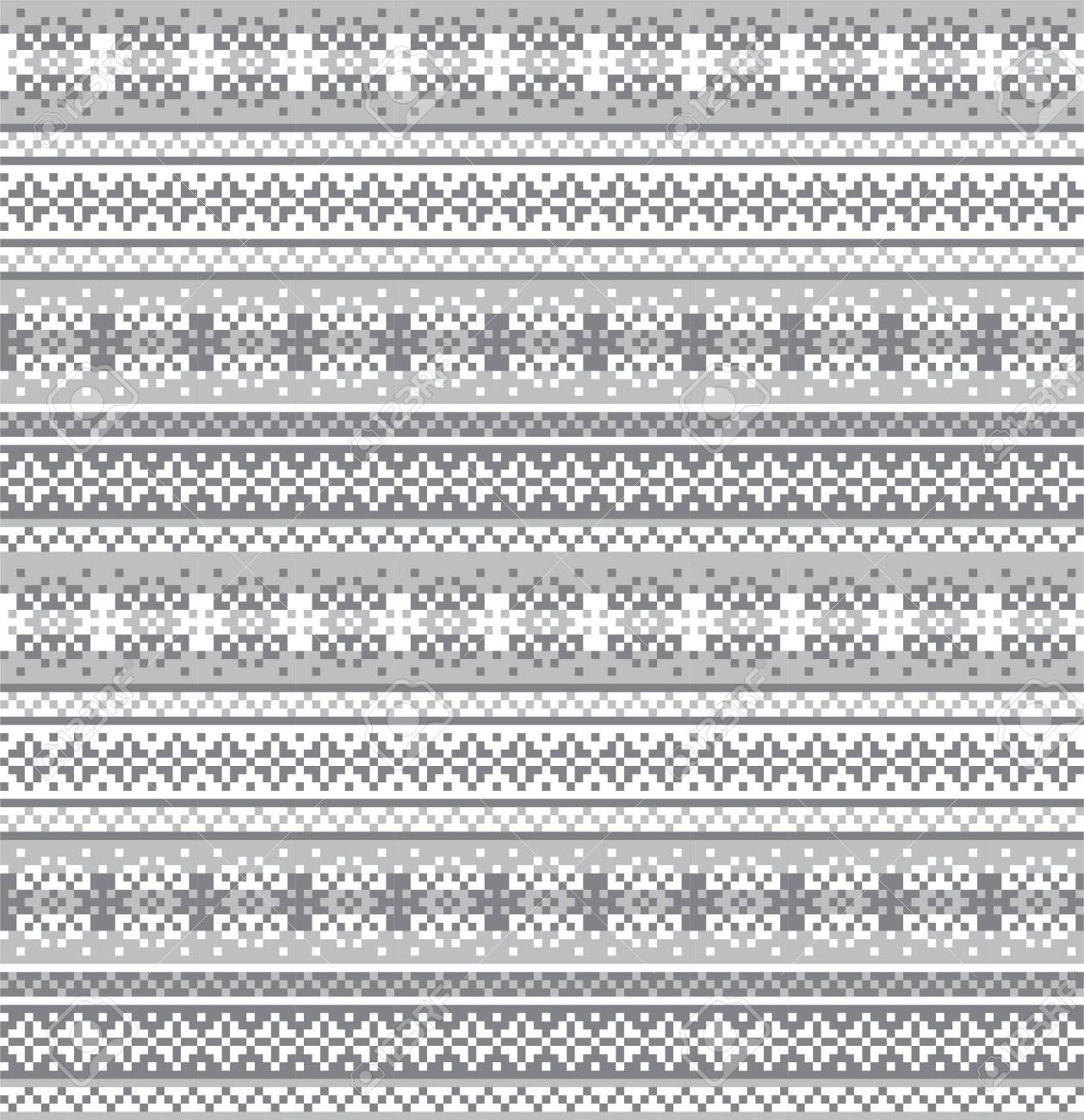 fair isle snowflake pattern suitable for website resources, graphics, print designs, fashion textiles, knitwear and etc. - 135939146