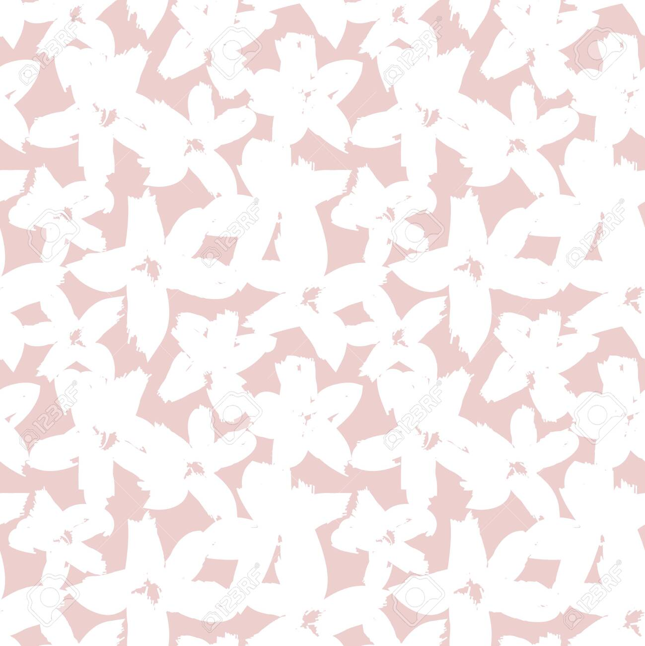 Pink Floral brush strokes seamless pattern background for fashion prints, graphics, backgrounds and crafts - 146462515