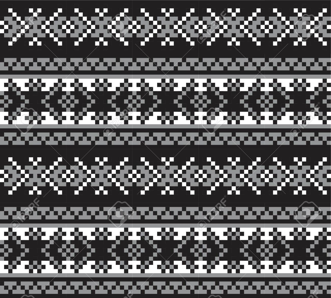 Black And White Christmas Fair Isle Pattern Background For Fashion Royalty Free Cliparts Vectors And Stock Illustration Image 147738259