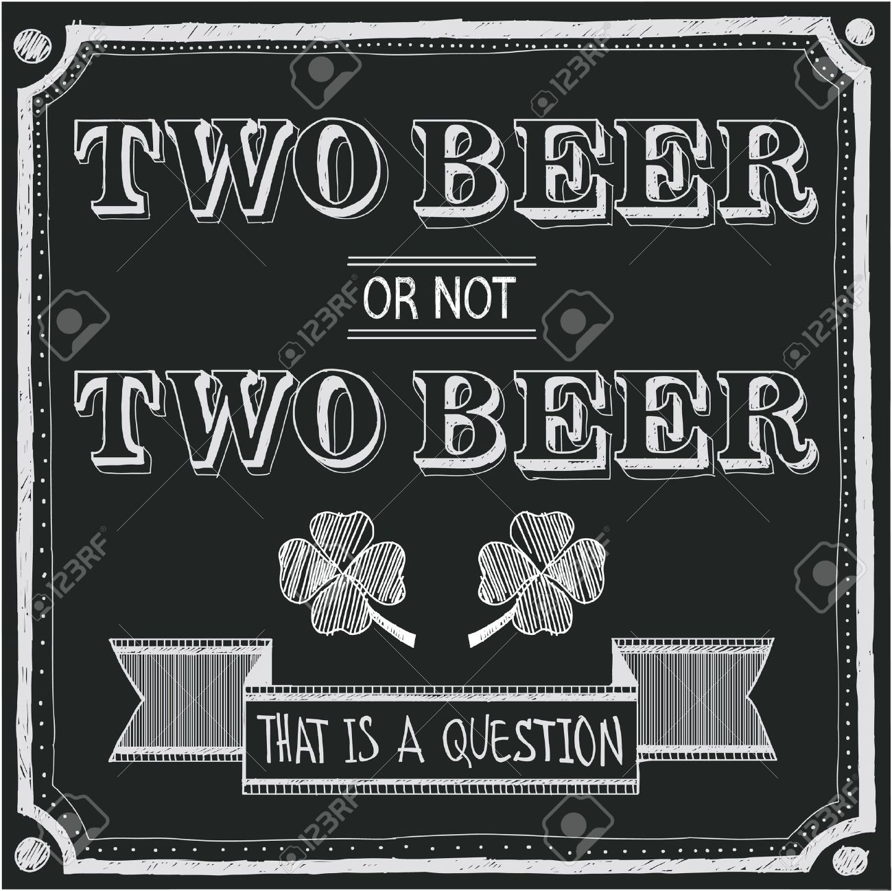 two beer or not two beer Stock Vector - 12812157