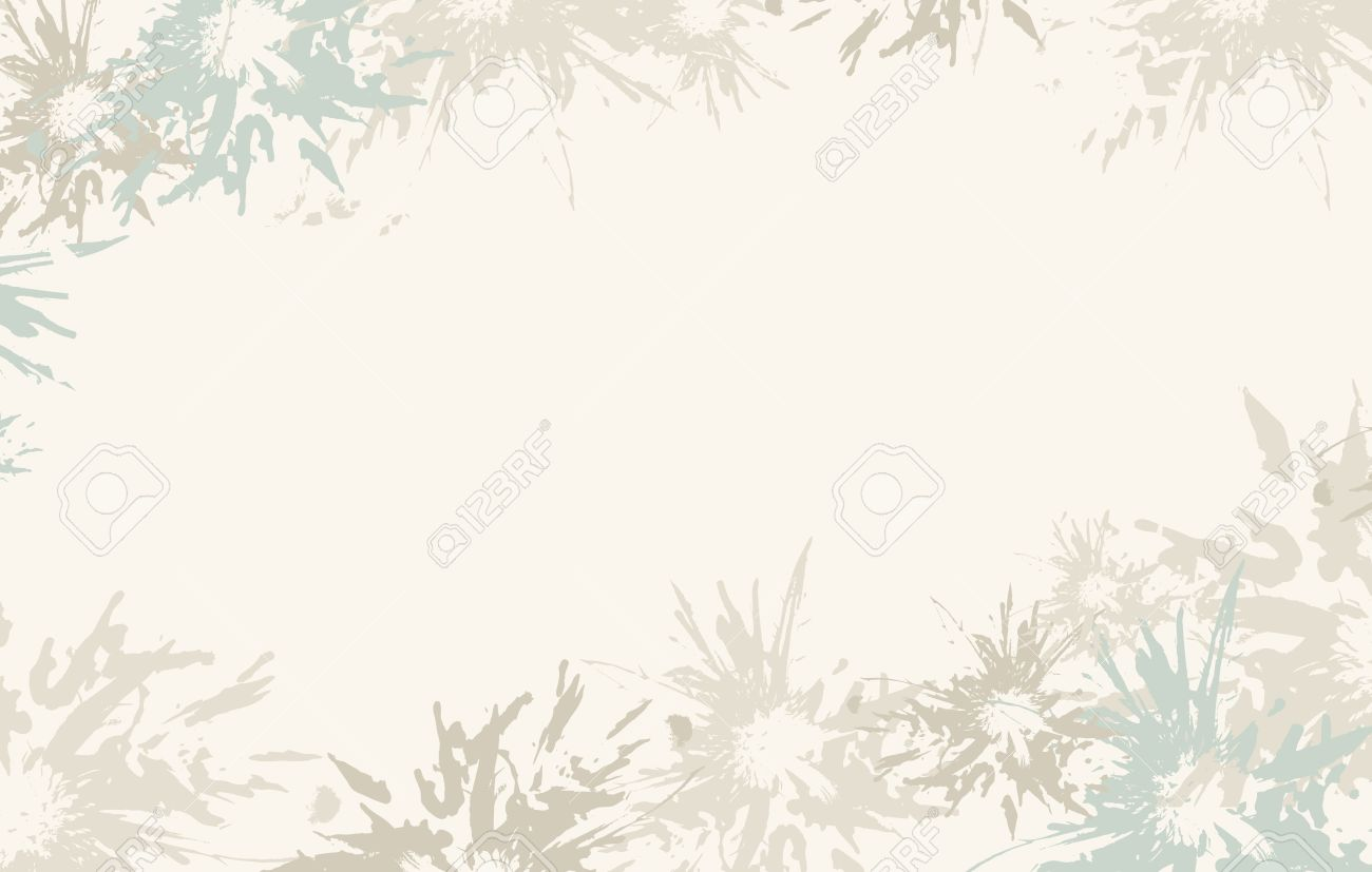 Light Blue Abstract Floral Background Vector Royalty Free