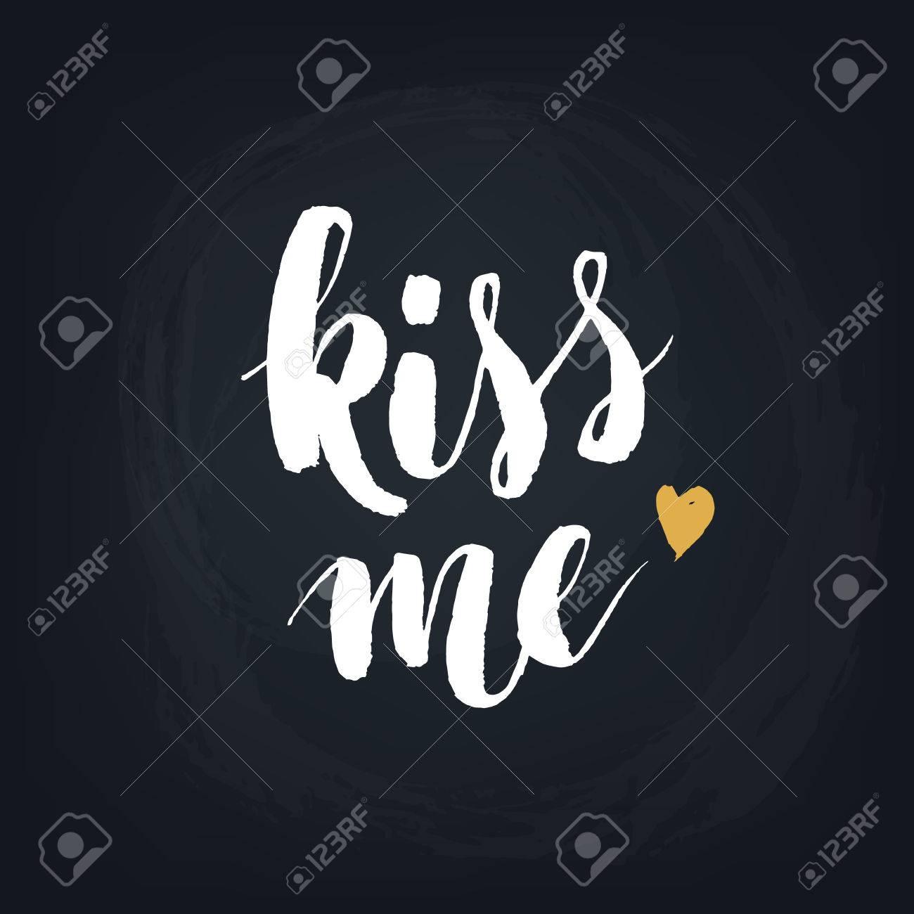 C Stock Quote Kiss Mehandwritten Modern Calligraphy Quote Design Element