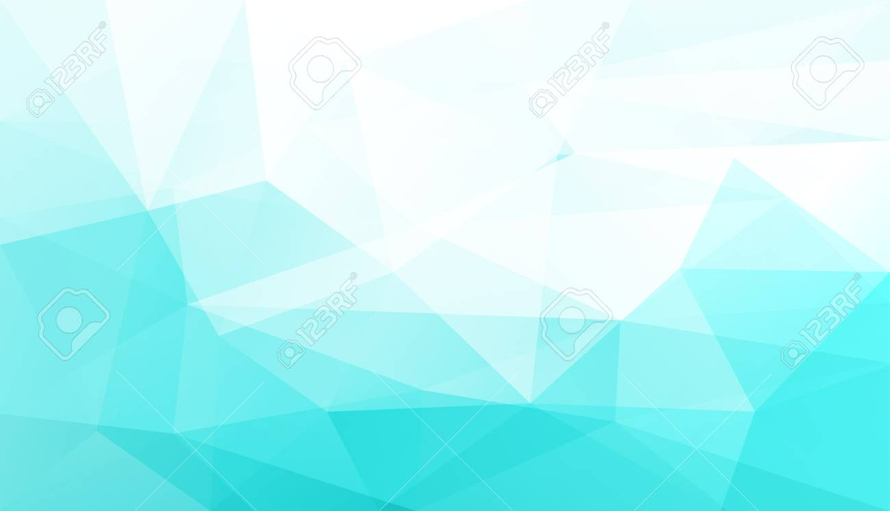 Abstract Light Blue Polygonal Geometric Background Made Of Triangles