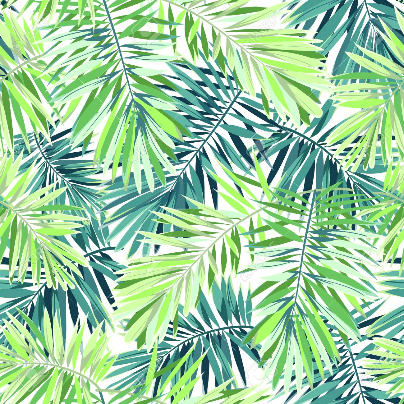 Bright Green Background With Tropical Plants Seamless Vector Royalty Free Cliparts Vectors And Stock Illustration Image 73330859