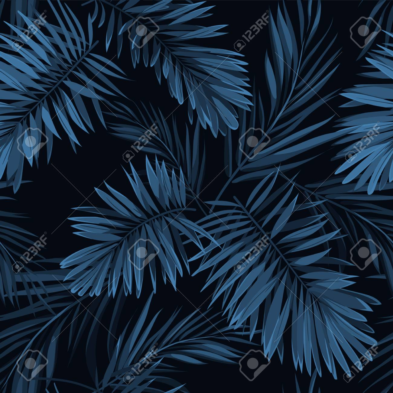 Seamless Vector Indigo Blue Pattern With Monstera Palm Leaves Royalty Free Cliparts Vectors And Stock Illustration Image 73546132 Green and blue leaves art. seamless vector indigo blue pattern with monstera palm leaves