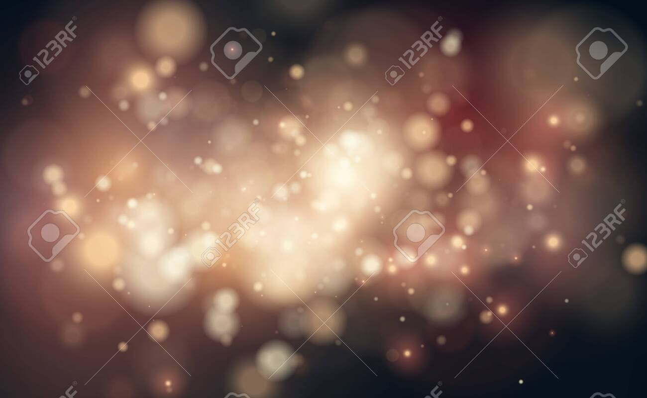 Vector gold glitter backdrop. Transparent falling golden particles. Magic and luxury Christmas or party background design. Abstract cosmic nebula and sturdust art. - 130487236