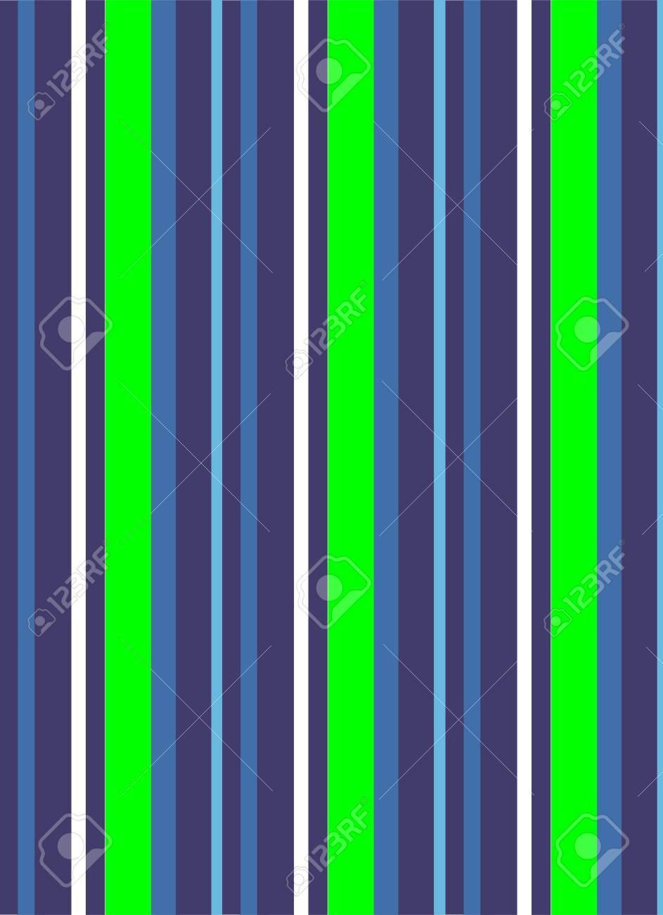 Serviette De Plage Fluo.Une Illustration De Rayures Bleues Et Vert Fluo Qui Ressemblent A Une Serviette De Plage
