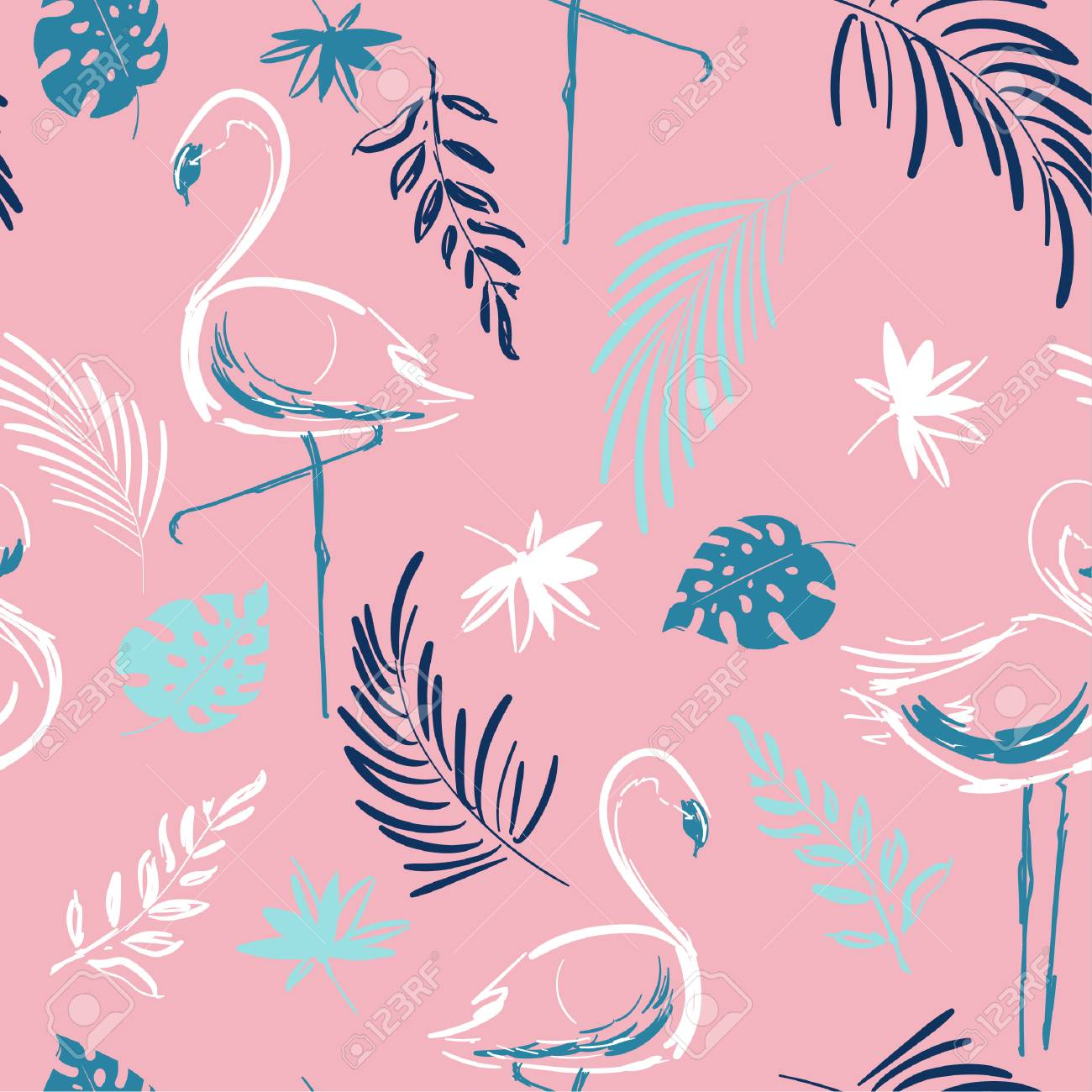 Beautiful Hand Drawing Tropical Motif Vector Flamingo Bird Leaves Tropical Royalty Free Cliparts Vectors And Stock Illustration Image 92102296 Download all photos and use them even for commercial projects. beautiful hand drawing tropical motif vector flamingo bird leaves tropical