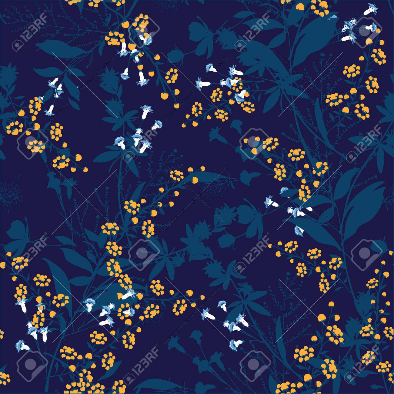 Trendy Floral Pattern In The Many Kind Of Flowers Tropical