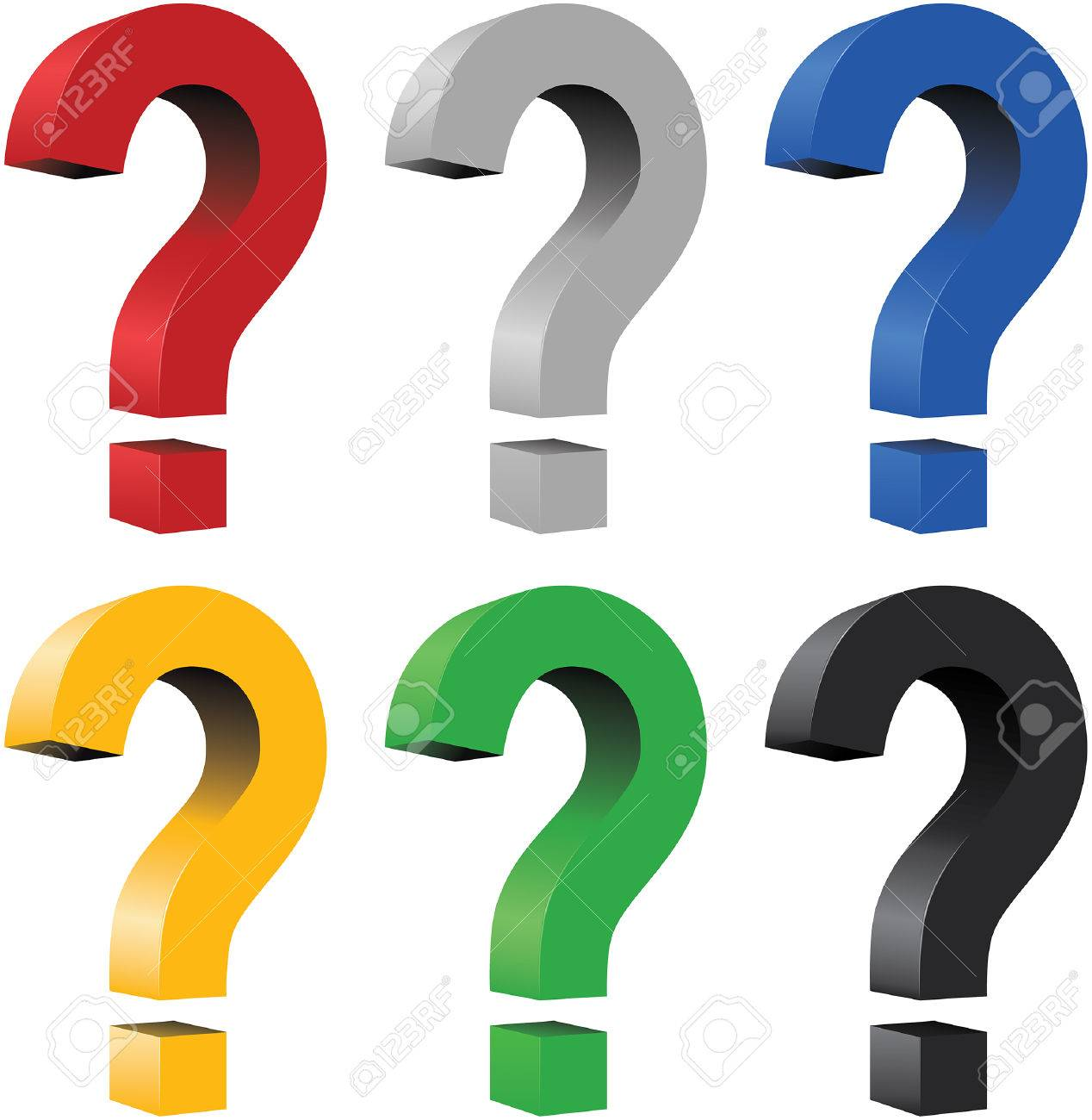 3D question mark - blend and gradient only Stock Vector - 5471303