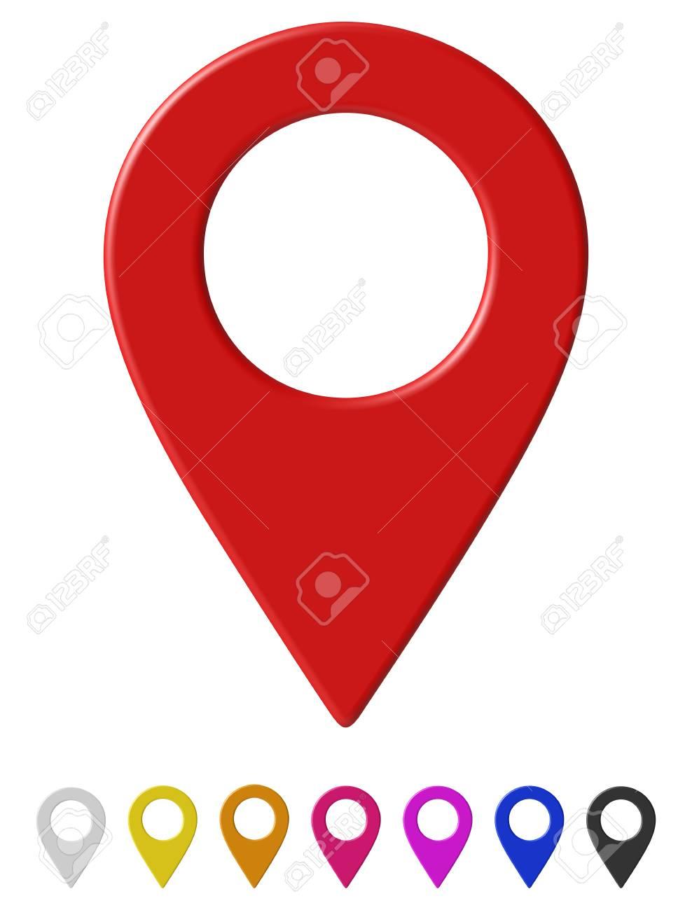 Map pointer Vector illustration. - 92809635