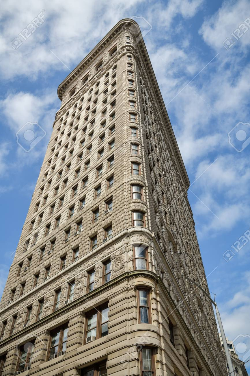 New York City, United States - October 5, 2018: Detailed view on famous Flatiron Building in New York City, USA during October 2018 - 117654721