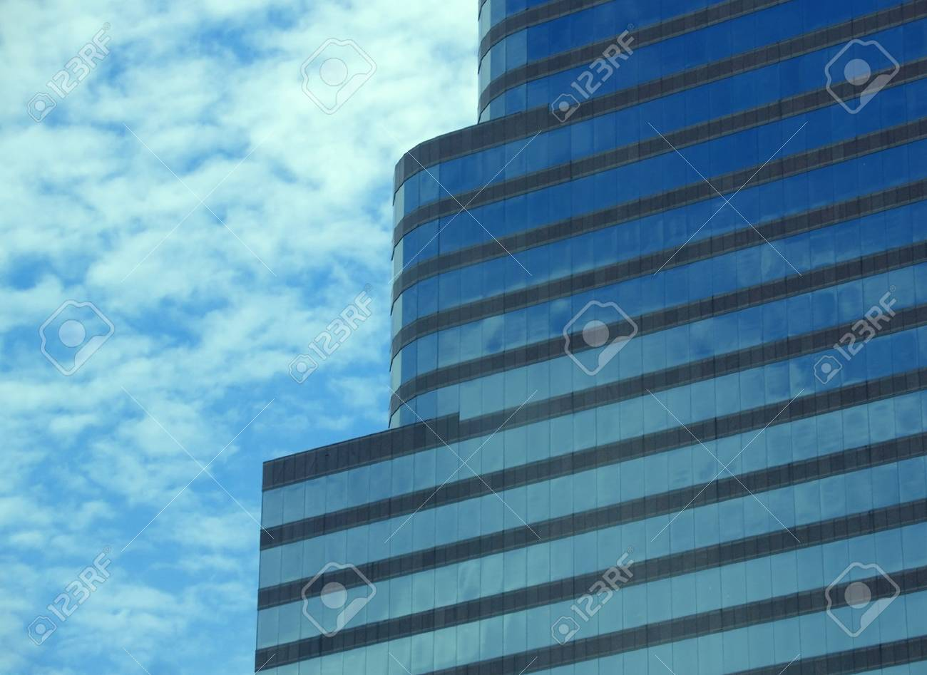 Striped blue glass skyscraper in Miami, Florida Stock Photo - 1335147