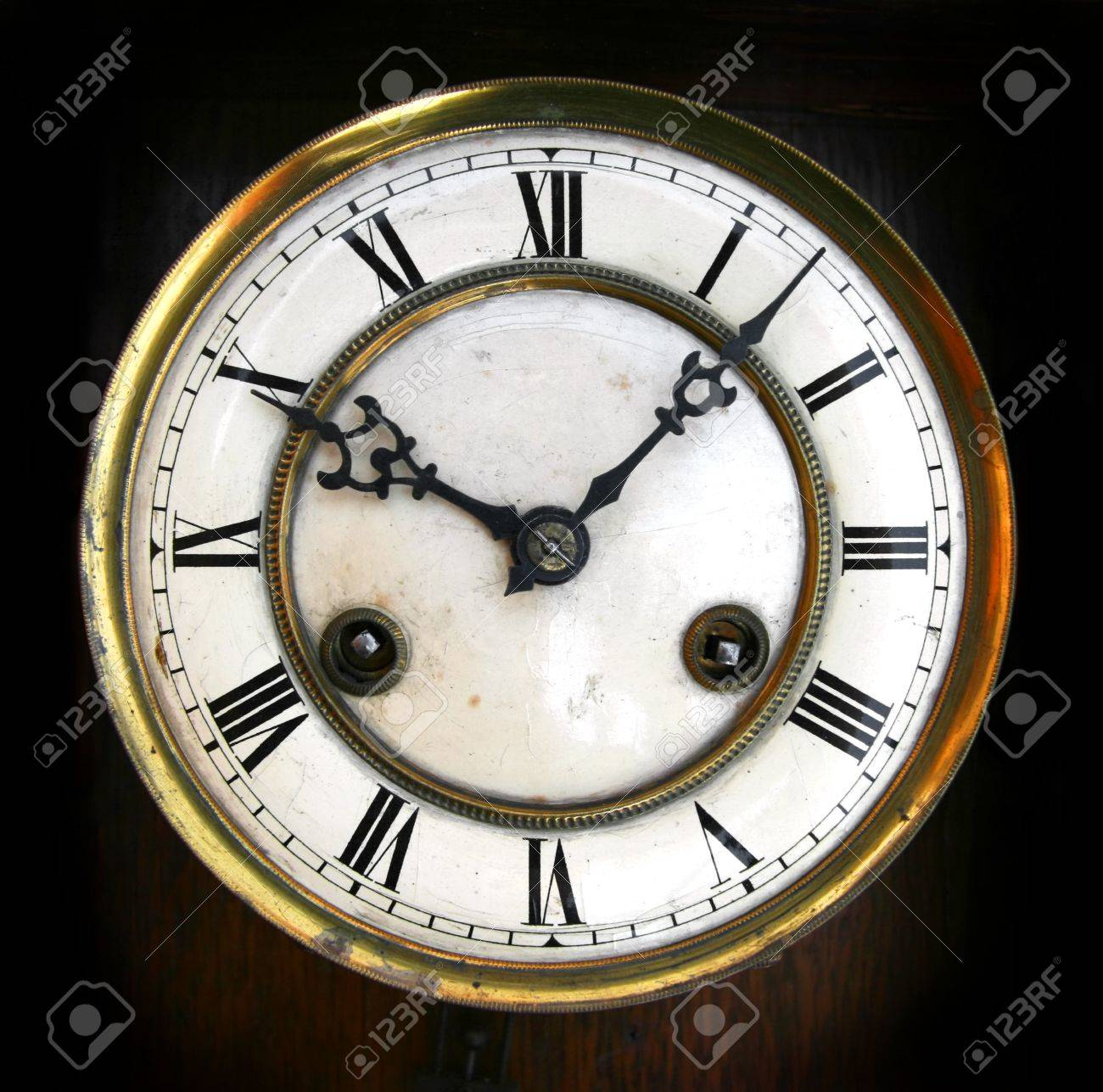 antique clock face with roman numerals stock photo picture and