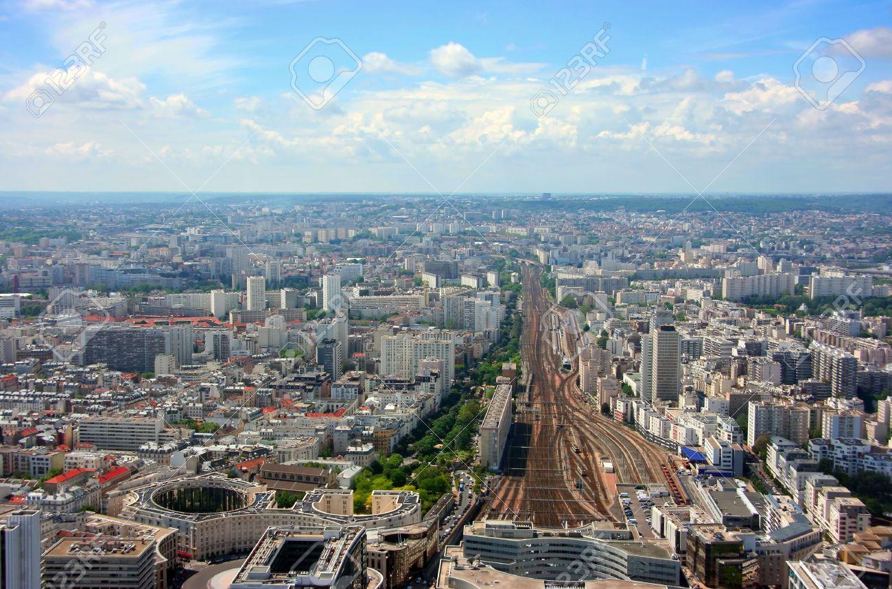 Aerial view of Montparnasse railway station, Paris Stock Photo - 3621654