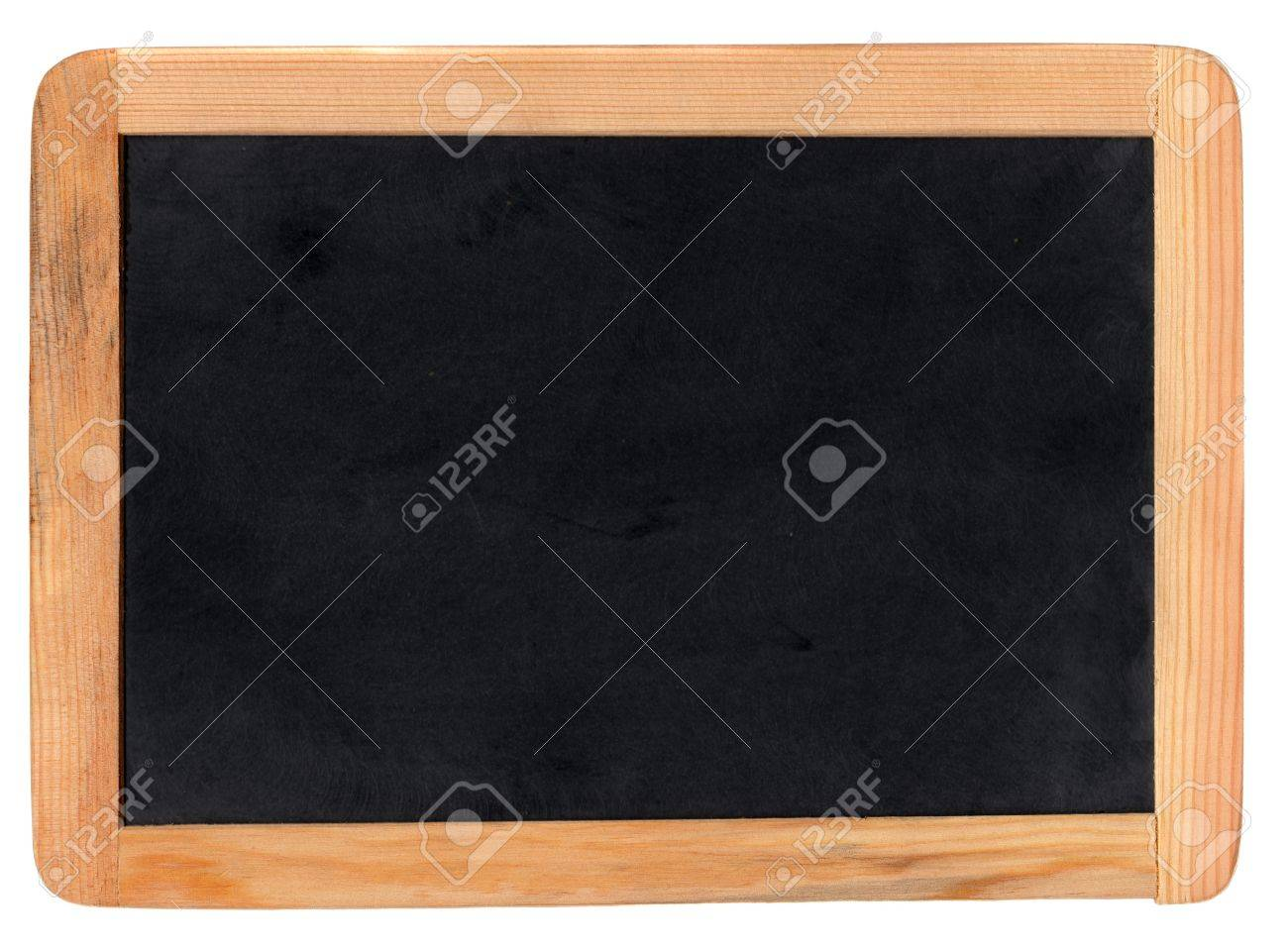 Small school wooden blank blackboard isolated on white background Standard-Bild - 3995869