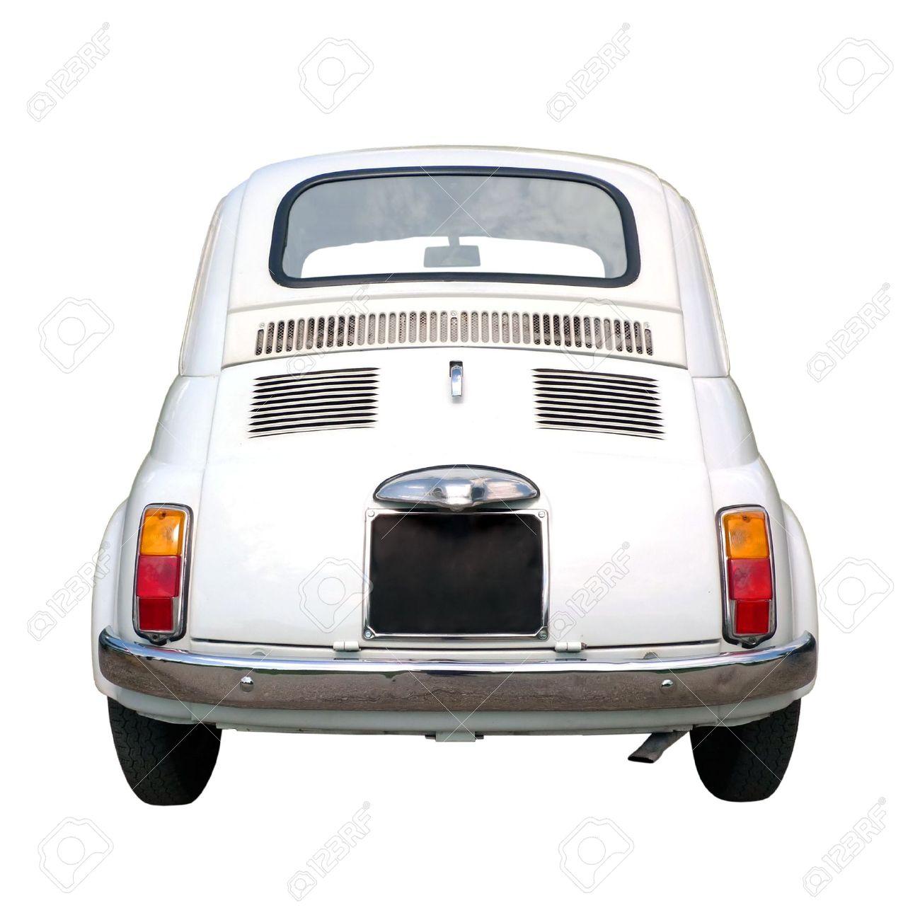 60s vintage italian car isolated on white background Standard-Bild - 5119098