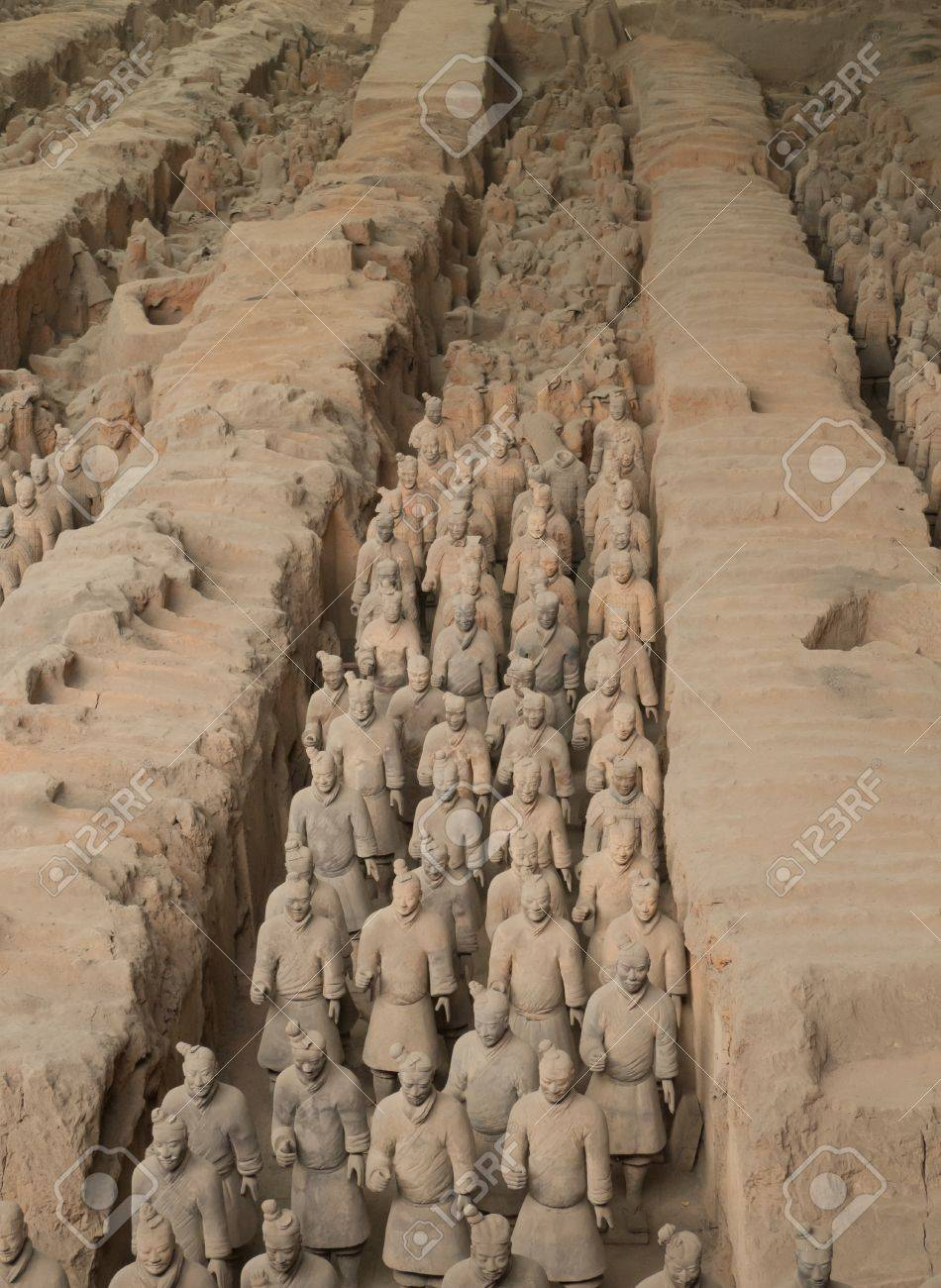 Qin dynasty Terracotta Army, Xi Standard-Bild - 17007367