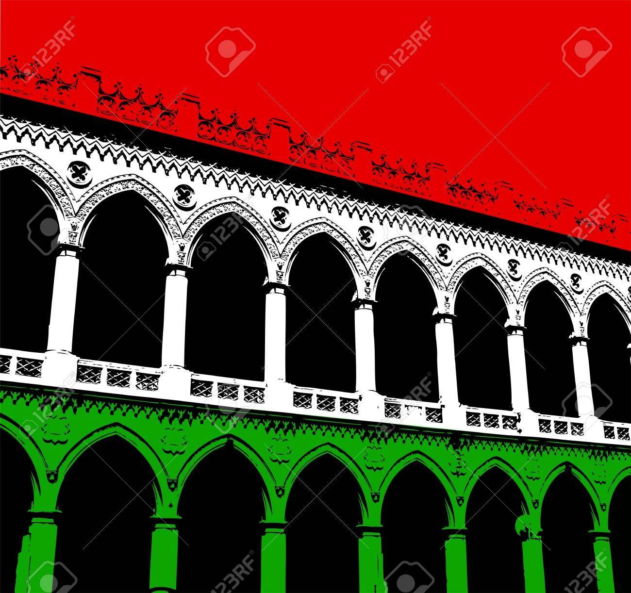 Classical italian arcade Stock Photo - 17007373