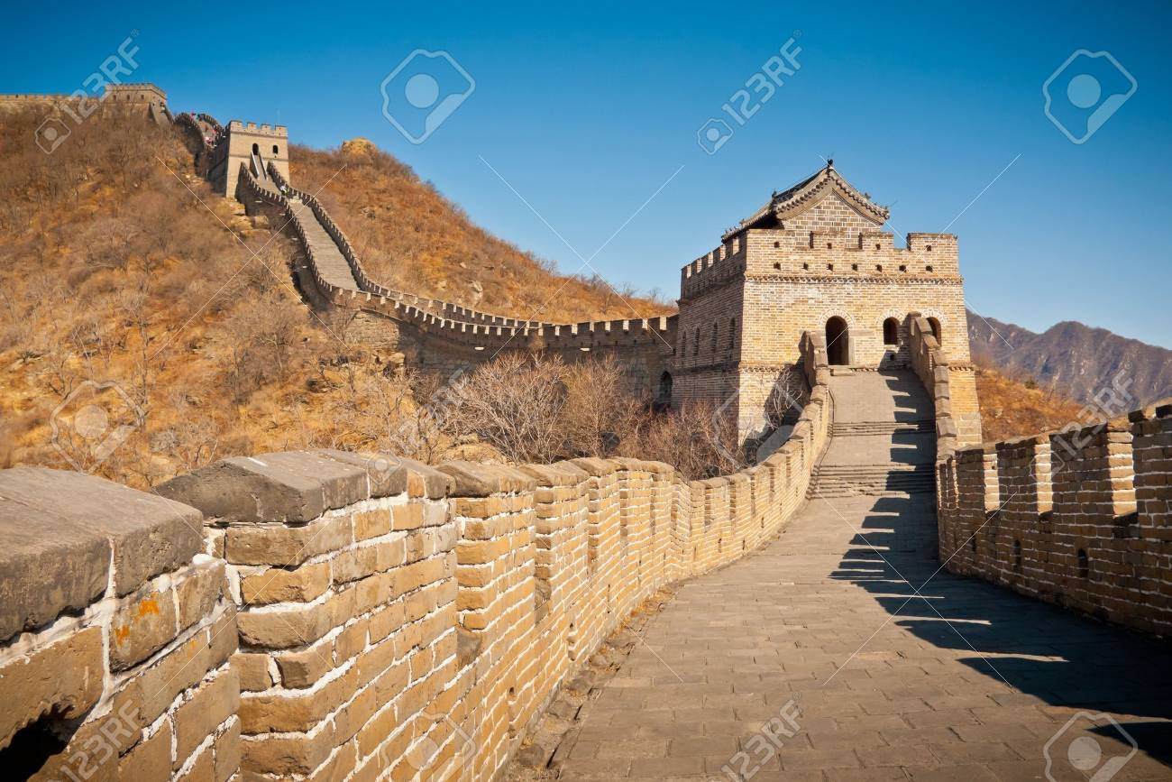 Restauriert Great Wall Tower at Mutianyu, nahe Beijing, China Standard-Bild - 17591949