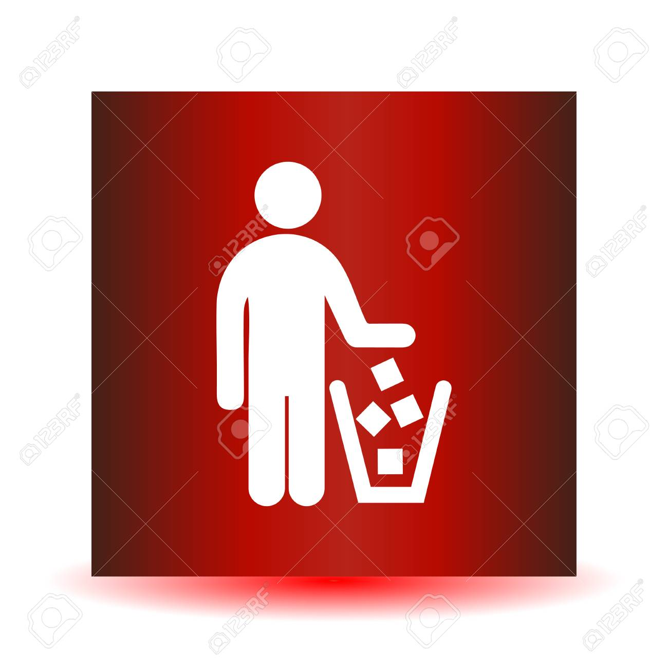 No Littering Sign In Flat Icon Design Vector Illustration Royalty