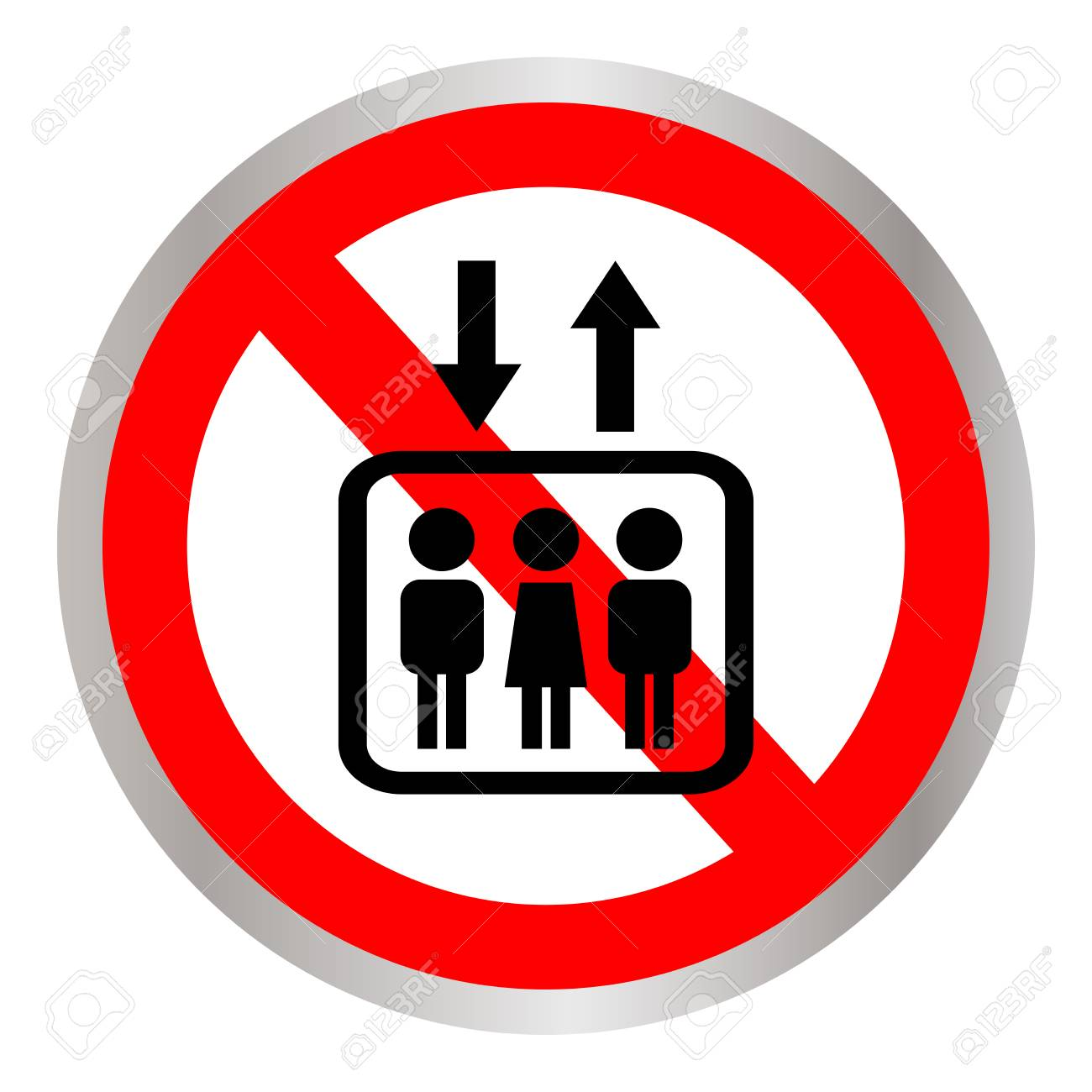 do not use elevator sign do not use lift prohibition sign with rh 123rf com Cute Clip Art Cheese Clip Art Black and White