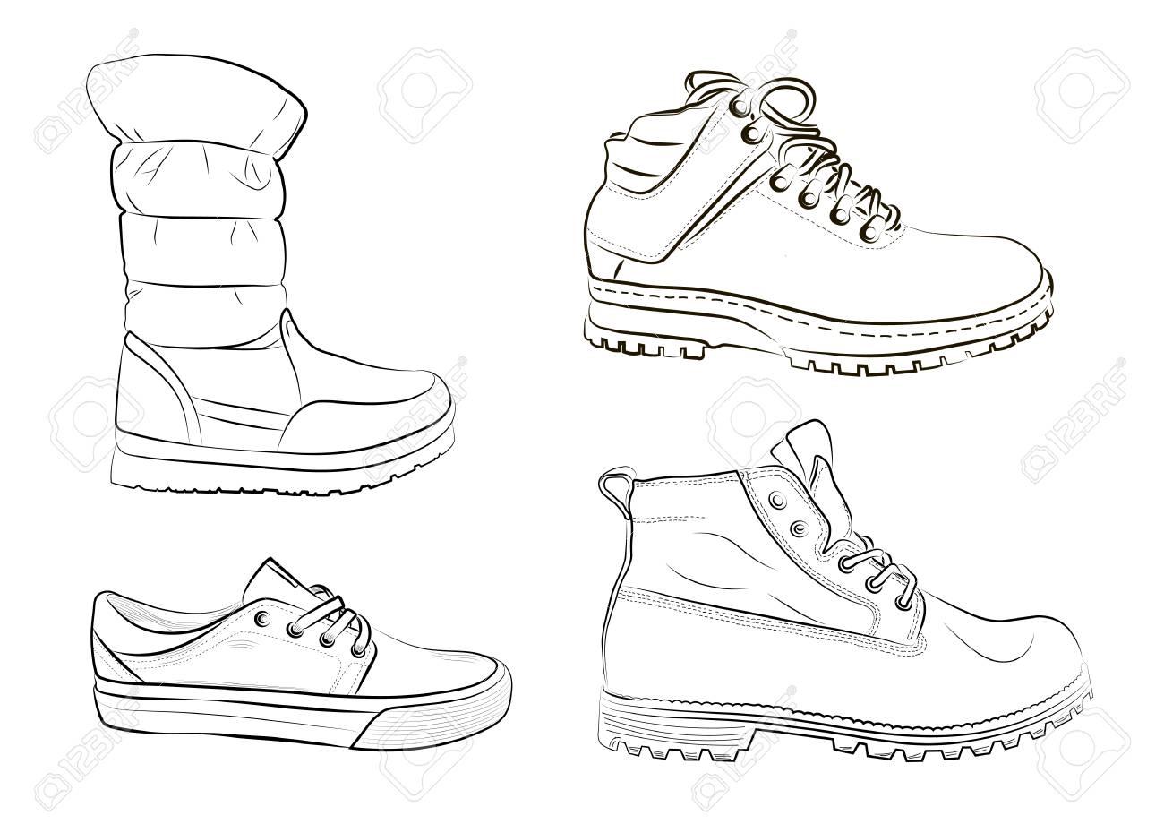 Vektor Skizze Illustration Herrenschuhe