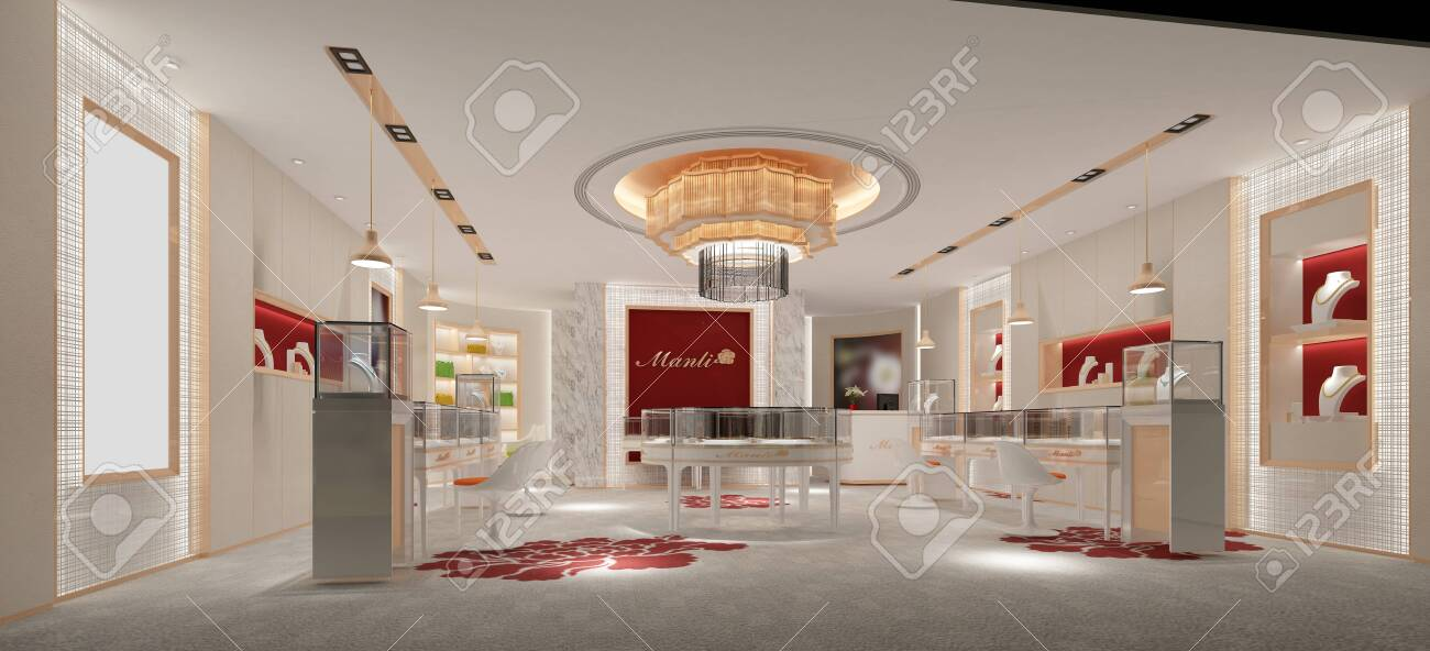 3d Render Jewelry And Gold Shop Stock Photo Picture And Royalty Free Image Image 130338133
